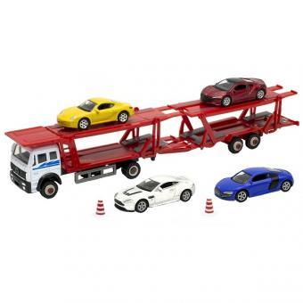 Модель машины автовоз с 4 спортивными машинами