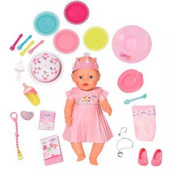BABY born Кукла Интерактивная Нарядная с тортом, 43 см