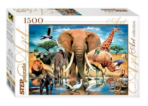 Пазл 1500 В мире животных