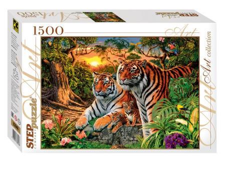 Пазл 1500 Сколько тигров?