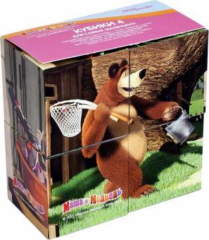 4 кубика Маша и Медведь