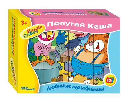 12 кубиков Попугай Кеша