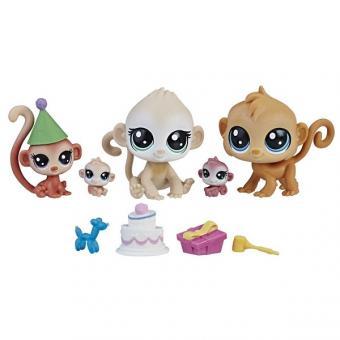 Littlest Pet Shop Набор зверушек Семья петов, обезьянки