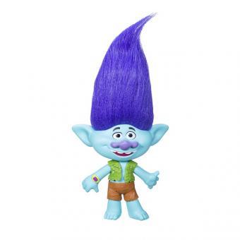 Trolls Фигурка тролля среднего размера с музыкой Цветан (голубой)