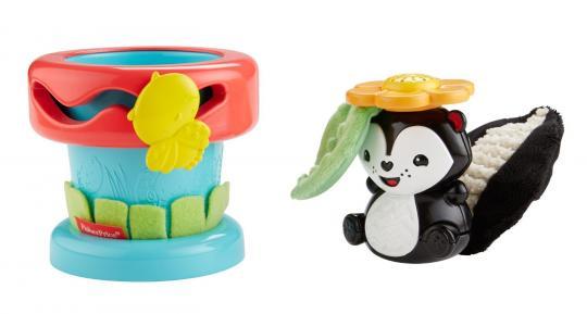 Развивающая игрушка Цветочный горшок Скунс неваляшка