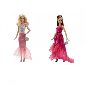 Barbie  Куклы Барби в вечерних платьях-трансформерах блондинка
