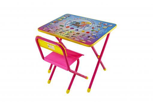 Набор мебели Дэми №1   розовый Алфавит
