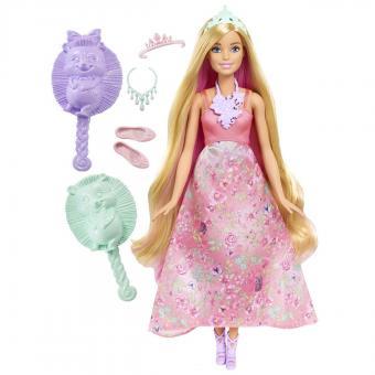 Barbie Принцессы с волшебными волосами, 2 вида розовая