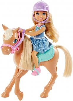 Barbie Кукла Челси и пони
