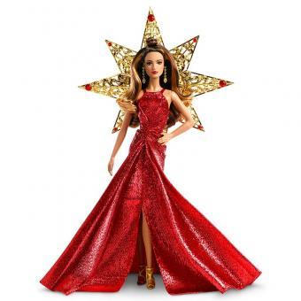 Barbie Праздничная кукла Барби шатенка