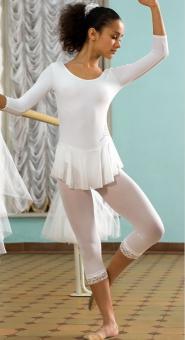 Леггинсы капроновые для танцев и выступлений для девочек GRAZIA 40 152-158