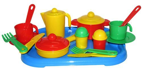 Набор посуды Настенька с подносом на 2 персоны