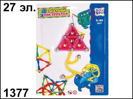 Магнитный конструктор Узор, 27 элементов