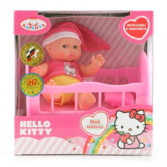 Карапуз. Пупс 10 см Hello Kitty с аксессуарами KITTY