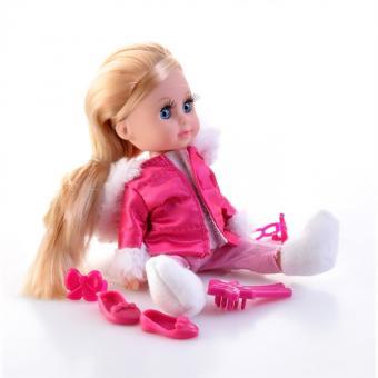Кукла Машенька 15см озвученная в зимней одежде,с аксессуарами в ассортименте