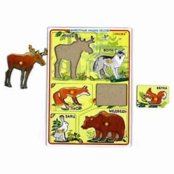 Рамка-вкладыш Звери/Животные наших лесов