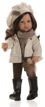 Кукла Soy Tu Эшли в пуловере и коричневых брюках, 42 см