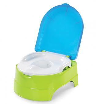 Детский Горшок 2 в 1 My Fun Potty салатово-голубой