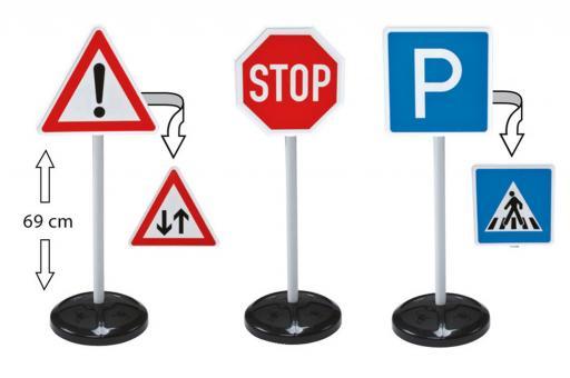 Игрушечные дорожные знаки 3 шт.