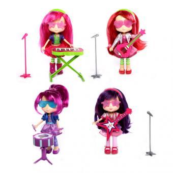 Шарлотта Земляничка Кукла 15 см с музыкальным инструментом, 4 вида Plum Pudding с барабанами