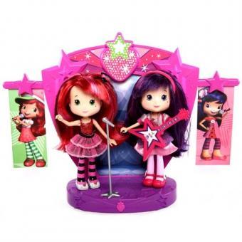 Шарлотта Земляничка Две куклы 15 см на сцене