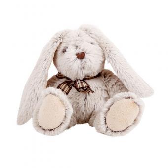 Мягкая игрушка Сидячий зайка, 16 см