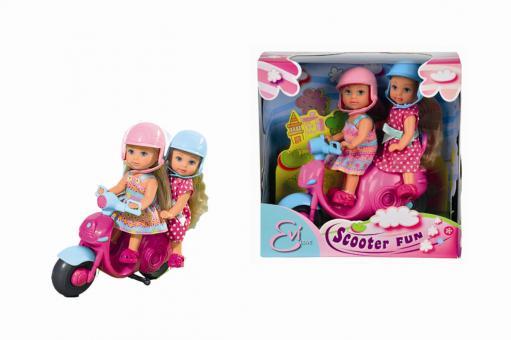 Куклы Еви 2 шт, на мотороллере, 12 см
