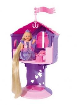 Кукла Еви Рапунцель в башне