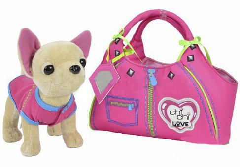Chi-Chi Love Плюшевая собачка Чихуахуа Zipper, с сумкой 20 см