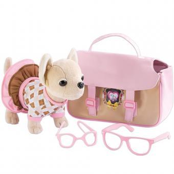 Chi-Chi Love Oxford Плюшевая собачка в очках и с сумочкой, 20 см