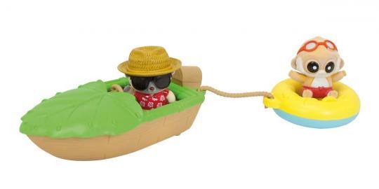 Игровой набор YooHoo&Friends Beach: лодка, спасательный круг + 2 фигурки