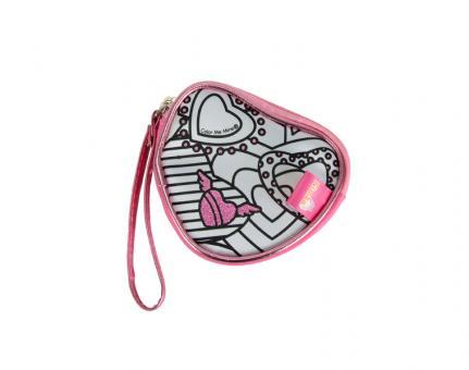 Color Me Mine Мини-сумочка Алмазный блеск, в форме сердечка, 3 перманентных маркера, 10 см