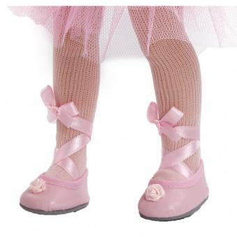 Балетки розовые для кукол 32 см