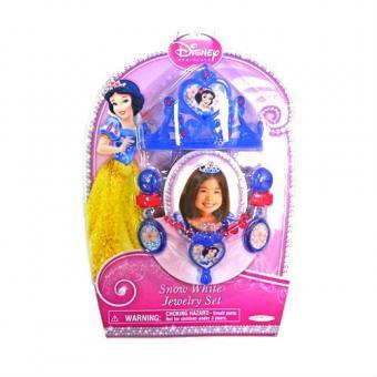 Набор украшений для девочки (диадема, серьги, колье) Белоснежка
