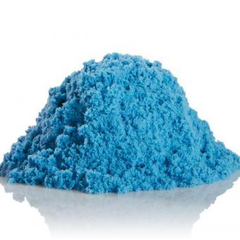 Космический песок 3 кг. с песочницей и формочками голубой