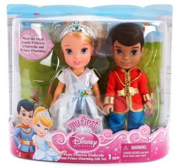 Кукла Принцессы Дисней Золушка и принц Чаминг, 15 см