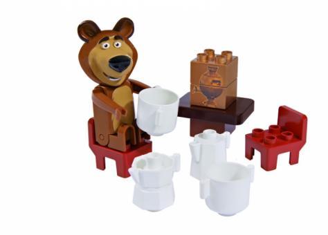 Конструктор Маша и Медведь, стартовый набор, 4в, 7-11 дет.