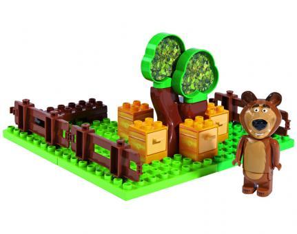 Конструктор Маша и Медведь, Пчелиная ферма Мишки, 21 дет