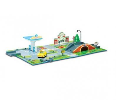 Набор Город почта с мостом (1 металлическая машинка в комплекте)