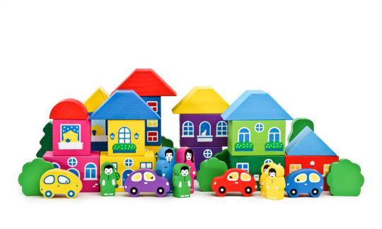 Конструктор Цветной городок 41 дет