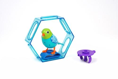 Интерактивная игрушка Digi Birds Птица с клеткой с подставкой и кольцом, 12 видов