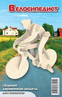 Сборная модель Велосипедист (дерево)