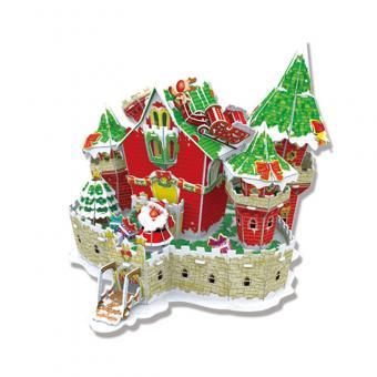 3D Пазл Сказочный рождественский замок (с подсветкой )