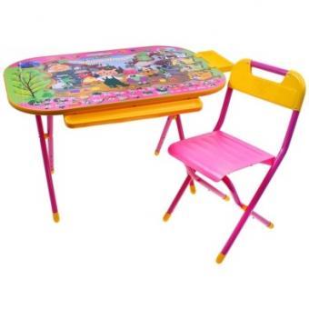Набор мебели Дошкольник    Чипполино (розовый)