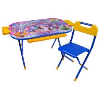 Набор мебели Дошкольник    Ну-погоди (голубой)
