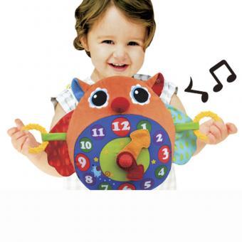 Развивающая игрушка Часы-Сова