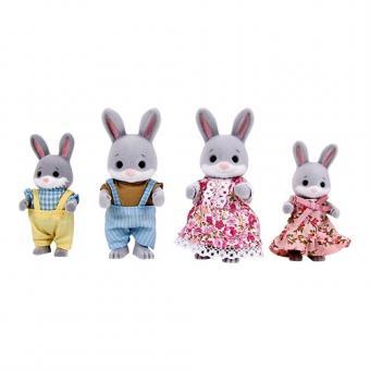 Набор фигурок Семья серых кроликов