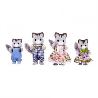 Набор фигурок Семья серых котиков