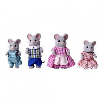 Набор фигурок Семья серых мышек