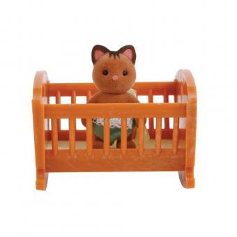 Набор Малыш котенок с кроваткой